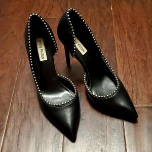 Classic black spike heel with cool embellishment